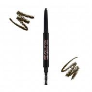 Карандаш для бровей Makeup Revolution Duo Brow Pencil Medium Brown: фото