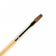 Кисть для ногтей ВАЛЕРИ-Д (лак) из волоса колонка №4 ровная: фото