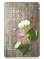 Маска с экстрактом лотоса THE FACE SHOP Real nature mask sheet snow lotus 20 г.: фото