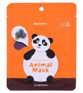 Маска тканевая экстрактом ежевики Berrisom Animal mask series Panda 25мл: фото