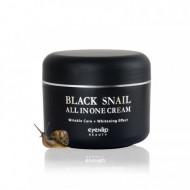 Крем для лица многофункциональный с экстрактом черной улитки Eyenlip Black Snail All In One Cream 100мл: фото