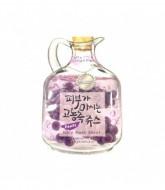 Маска тканевая фруктовая Baviphat Grape Juicy Mask Sheet (Lifting & Bright ) 23гр: фото