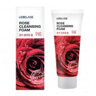 Увлажняющая пенка с экстрактом дамасской розы LEBELAGE Rose Cleansing Foam: фото