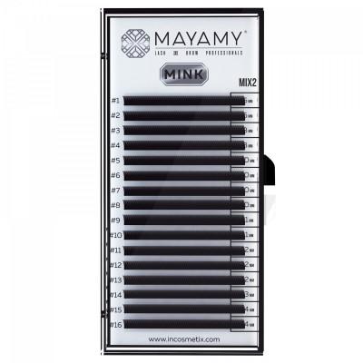 Ресницы MAYAMY MINK 16 линий CC 0,07 MIX 2: фото