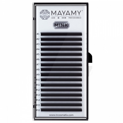 Ресницы MAYAMY MINK 16 линий D 0,05 13 мм: фото